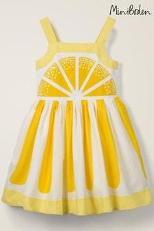 فستان أصفر مزخرف ليمون منBoden