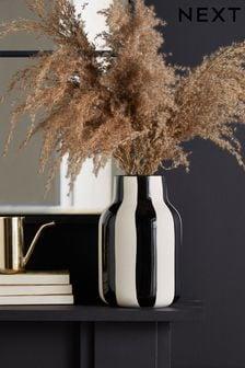 Ceramic Stripe Vase (964039)   $32