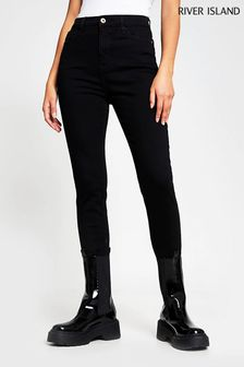 River Island Black High Rise Jeans