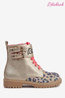 Billieblush Silver Lace Up Walking Boots