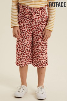 FatFace Red Daisy Print Woven Culottes