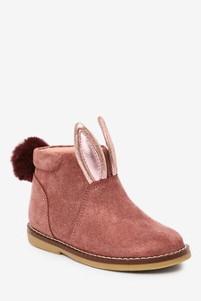 Leather Bunny Boots (Younger)