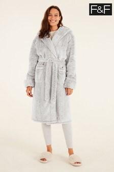 F&F Grey Silky Robe