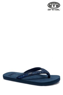Animal Blue Swish Slim Flip Flops