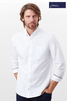 Joules White Laundered Oxford Classic Long Sleeve Shirt