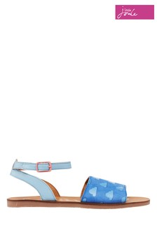 Joules Blue Ella Leather Strapped Sandals