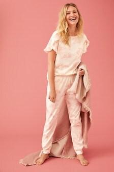 Pyjama aus Baumwolle mit Häschen-Design