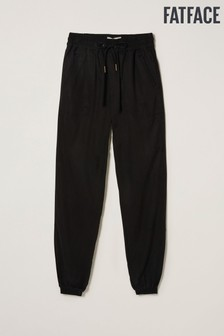 FatFace Black Lyme Cuffed Trousers
