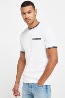 Dogtooth Tipped Neck T-Shirt