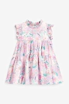 Jerseykleid aus Baumwolle mit Stufendesign (3Monate bis 7Jahre)