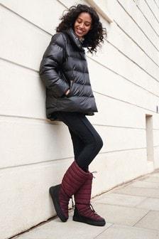 Faux Leather Padded Jacket