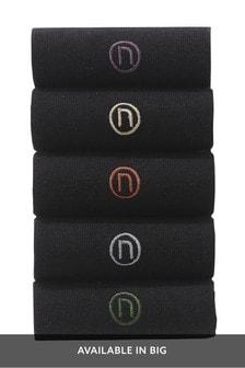 Ponožky s vyšívaným logom N, 5 párov