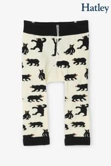 جوارب طويلة للبيبي Bear Bum بيج من Hatley