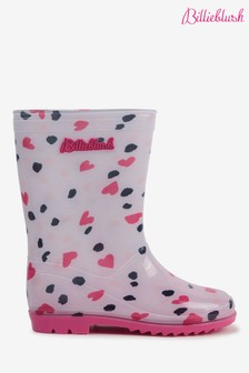 Billieblush Pink Heart Wellies