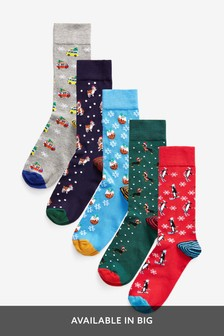 Christmas Novelty Socks Five Pack