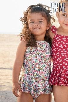 摺邊裙泳裝 (3個月至12歲)