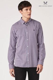 Crew Clothing Company Purple Millom Pinpoint Oxford Shirt