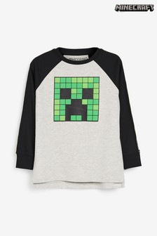 Minecraft Long Sleeved T-Shirt (4-14yrs)