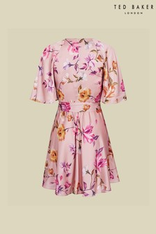 Ted Baker Tonkaa Rhubarb Mini Tea Dress