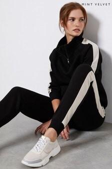 Mint Velvet Black Side Stripe Sweatshirt