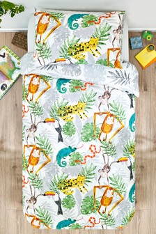 Jungle Friends Duvet Cover And Pillowcase Set