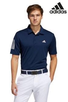 adidas Golf Navy 3 Stripe Polo