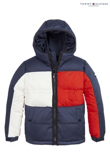 Tommy Hilfiger Blue Flag Hooded Jacket