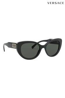 Czarne okulary przeciwsloneczne Cat Eye Versace