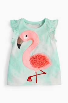 Flamingo Tie Dye Vest (3mths-8yrs)