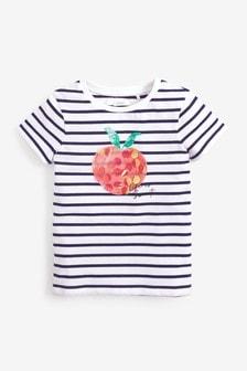 Tričko s flitrovým jablkom (3 – 16 rok.)