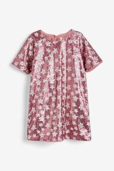 Расклешенное платье с блестками (3-16 лет)