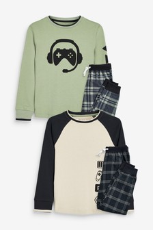 Kárované pyžamo, 2 ks (3 – 16 rok.)