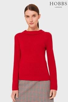 סוודר של Hobbs דגם Audrey באדום