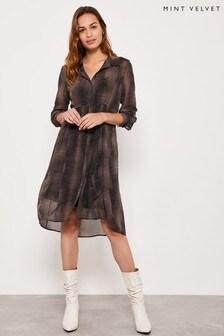 Mint Velvet Crocodile Print Cocoon Dress