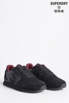 נעלי ספורט שחורות של Superdry בסגנון ריצה רטרו