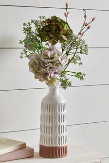 Artificial Hydrangeas In Vase
