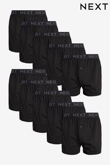 Lot de dix boxers coupe ample en pur coton