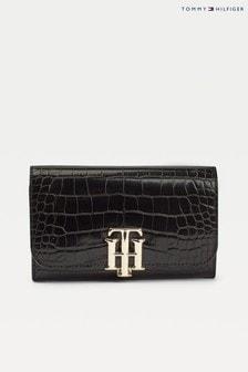 Tommy Hilfiger Black Lock Croco Wallet