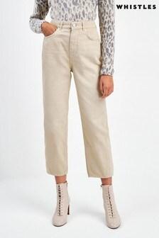Whistles Stone High Waist Barrel Leg Jeans