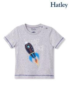 Hatley Space Rocket Im Dunkeln leuchtendes Grafik-T-Shirt für Babys, Grau