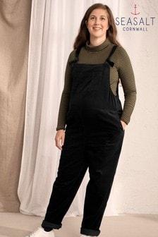 Seasalt Maternity Black Trewidden Dungarees