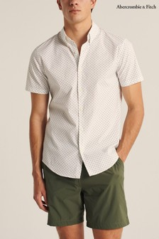 Abercrombie & Fitch Geometric Slim Fit Shirt