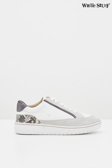 White Stuff Black Louisa Lace-Up Trainers