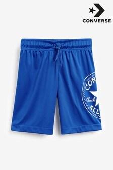 Pantalones cortos de malla con diseño cruzado y parche Chuck de Converse