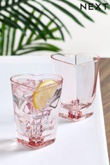 Heart Set of 2 Tumbler Glasses