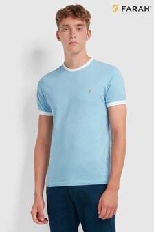 Farah Ringer-T-Shirt mit Logostickerei auf der Brust