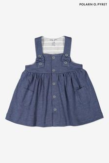Polarn O. Pyret藍色有機棉背心裙