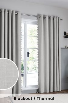 Textured Tassel Eyelet Blackout/Thermal Curtains