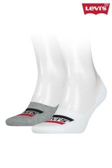 Levi's® Sportswear Logo Unisex Low Rise Footie Socks Two Pack