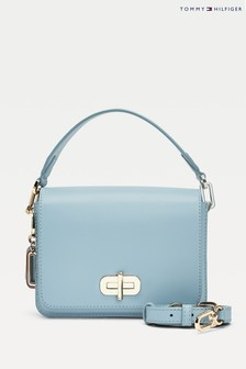 Tommy Hilfiger Blue Soft Turnlock Cross Over Bag